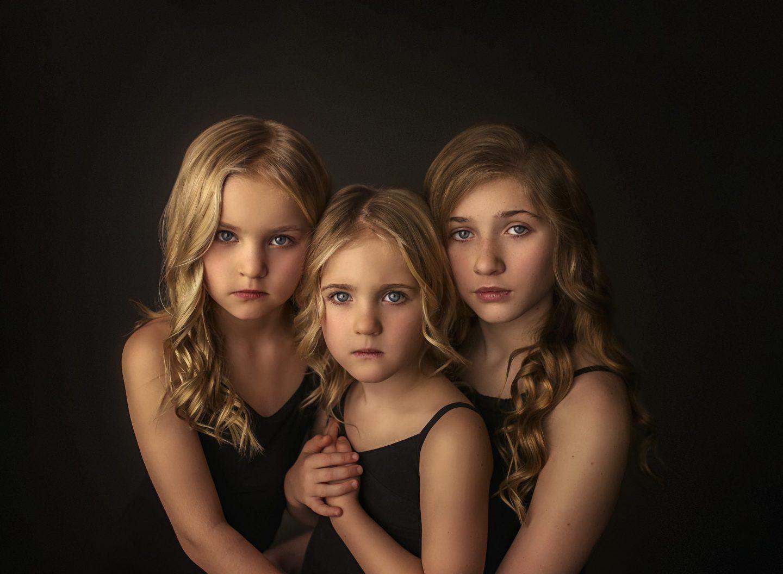 3 blonde girls fine art photography